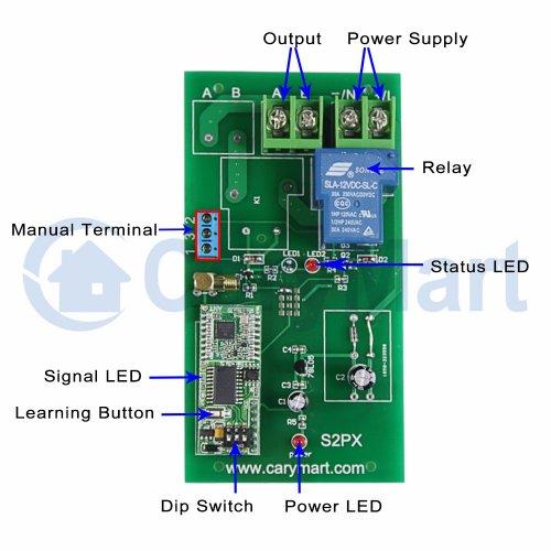 3000m Long Distance 30A 6V 9V 12V 24V DC Output Remote
