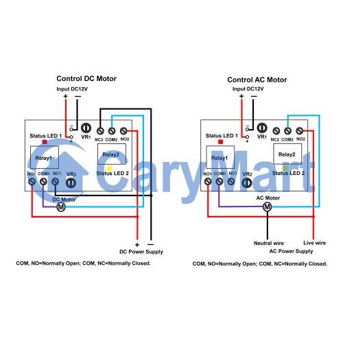 Two Way Infinite Loop Delay Module For AC / DC Motor Forward ... Ac Motor Reversing Wiring Diagram on