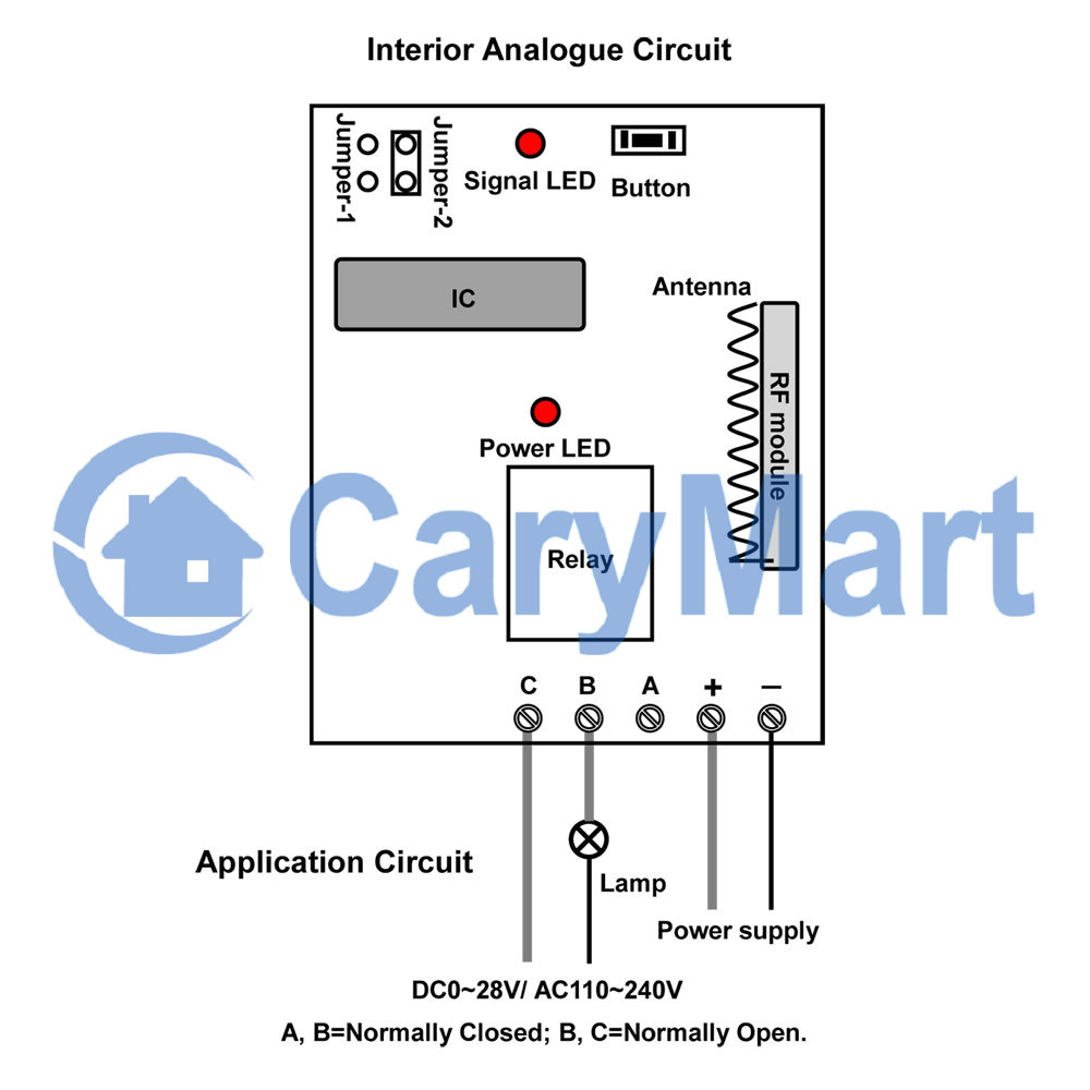 1 Channel Momentary Mode Remote Control Receiver With Dry Contact Output Normal Car Wiring Diagrams