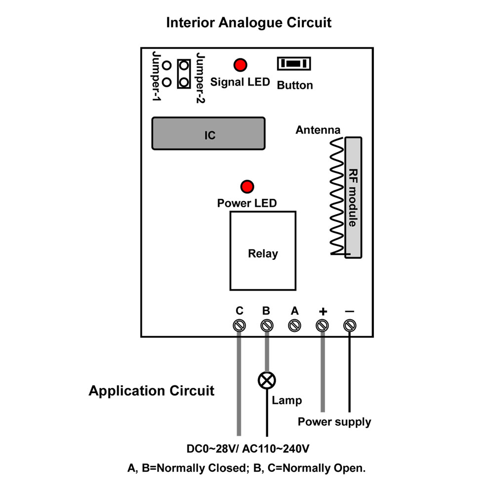 1ch 6000ft Long Distance Relay Output Tri Mode Wireless Remote On And Off The It Self Is Turning A 220vac Circuit Control Switch
