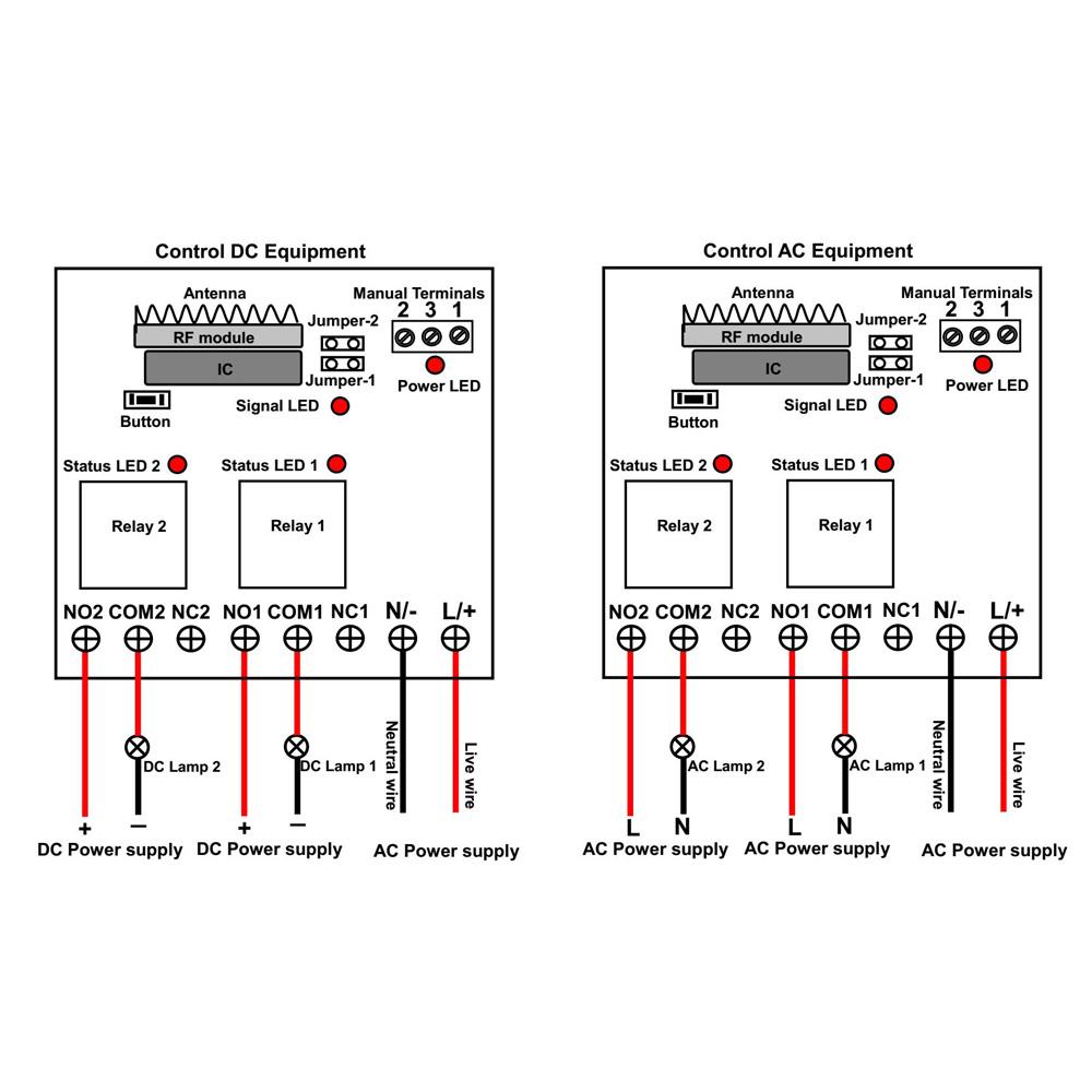 2ch Ac110v 220v Rf Memory Remote Control Kit Transmitter Receiver Rc Car Wiring Diagram Am Reciver Price Us 4800