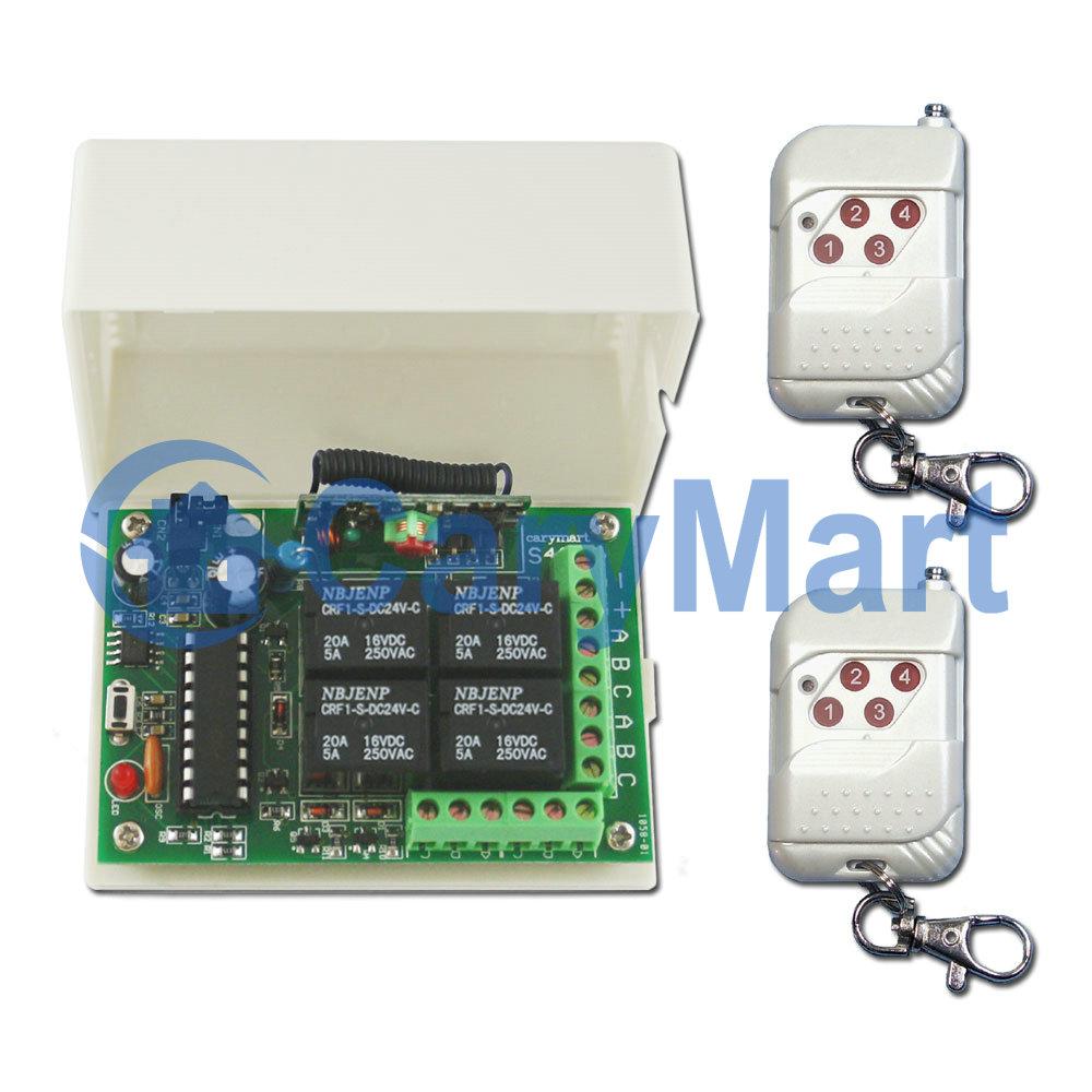 4 Relays 9v 12v 24v Rf Wireless Memory Remote Control System 12 Volt Toggle Relay