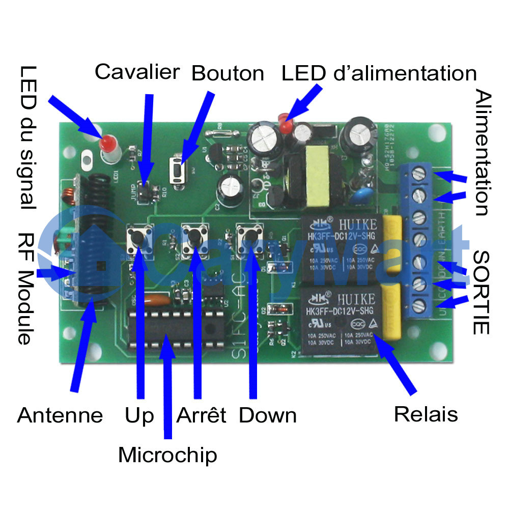 Ac 100240v Motor Momentary Remote Control Rf Receiver Circuit Diagrams Also See Amplifier And Transmitter