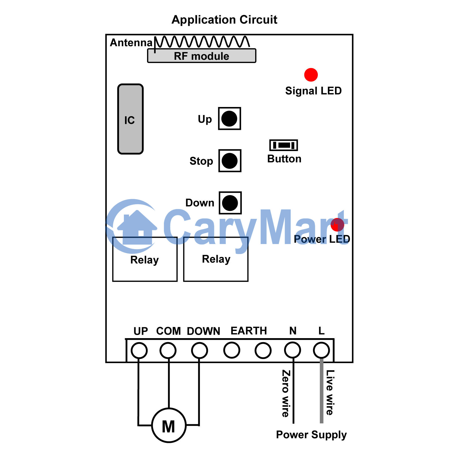 Ac 100 240v Motor Momentary Remote Control Rf Receiver Circuit