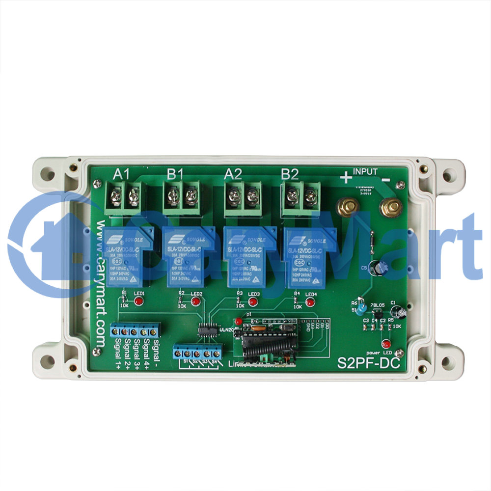 2 channel high power 30a dc motor remote controller for High power motor controller