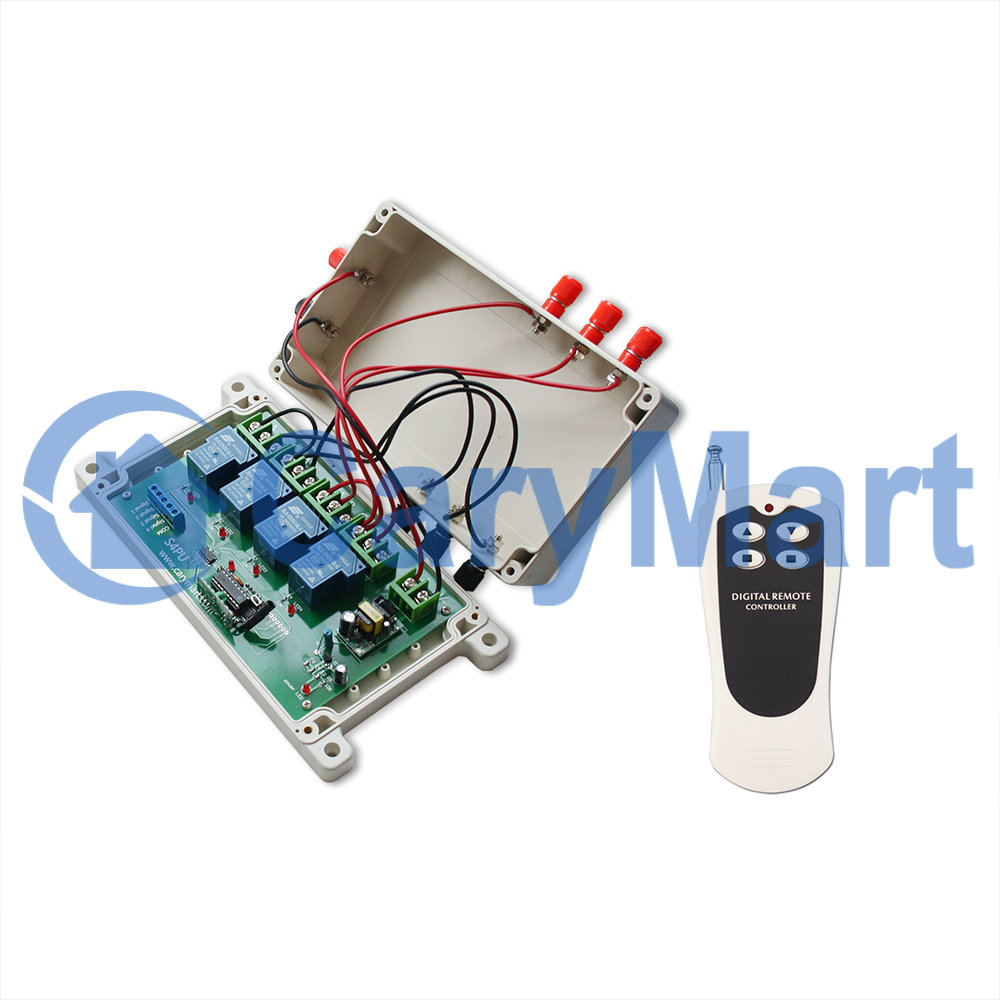 4 Channel Ac 30a Wireless Remote Control Double Pole Throw House Fan Switch Wiring Diagram Dpdt