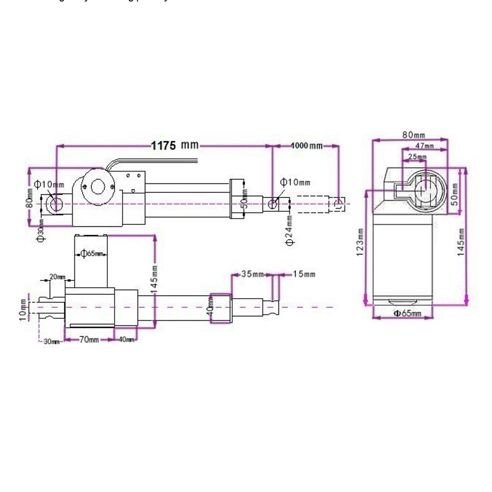 Dc 12 24v 40 1000mm 2000n Linear Actuator Wireless Remote Control Kit Wiring Diagram