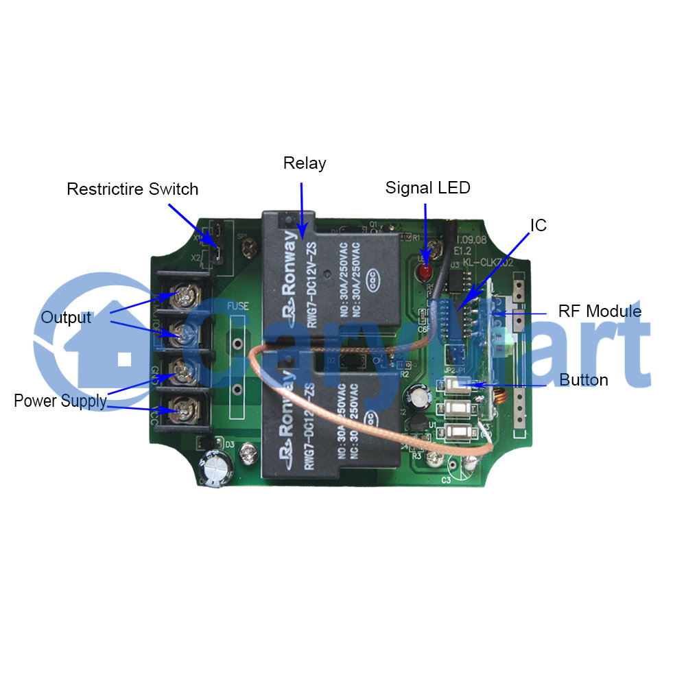 Long Range Dc 6 9 12 24v Motor Wireless Remote Control Kit With External Telescopic Antenna