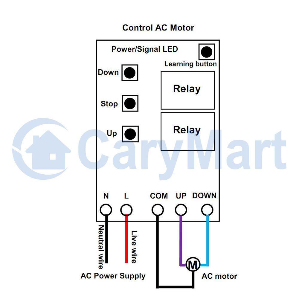 110v 240v Ac Motor Remote Control Kit Positive Reverse Rotation Diagrams Picture Price Us 4100
