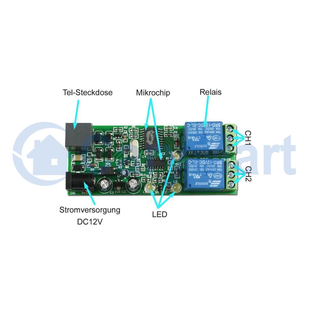 2 Way Wireless Telephone Remote Control Module With Password 6 Telephoneringer Telephonerelatedcircuit Electricalequipment Manual